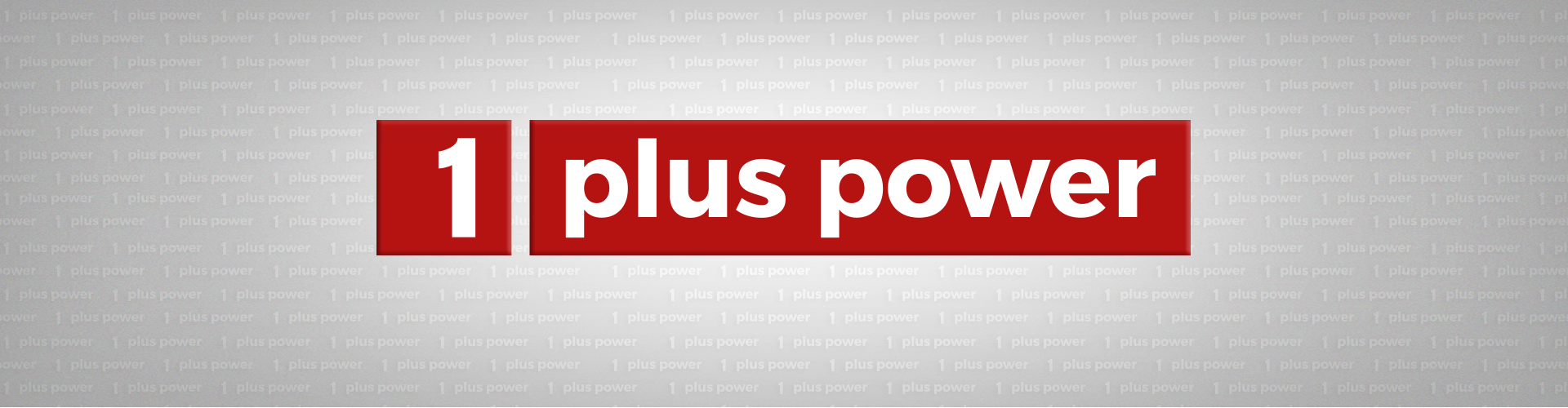 1 plus power Banner Logo composing keyvisual